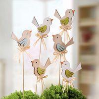 """Декоративные штекеры """"Птички"""", 6 штук [08013],"""