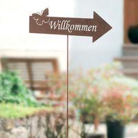 """Декоративный штекер садовый """"Willkommen"""" [08301],"""