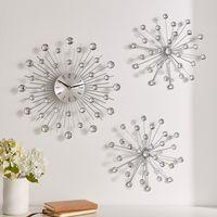 "Настенный декор с часами ""Кристаллы"", 3 предмета [08087],"