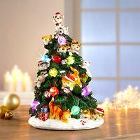 """Декоративная фигура  """"Рождественская елка с котятами"""" [08518],"""