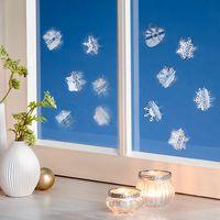 """Декоративные стикеры для окна """"Снежинки 3D"""", 12 штук [08519],"""