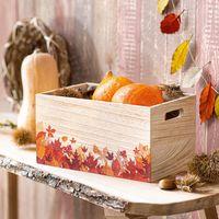 """Ящик деревянный """"Осенние листья"""" [08530],"""