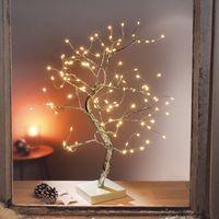 """Декоративное дерево с LED подсветкой """"Серебро"""" [08559],"""
