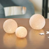 """Декоративные фигуры с LED подсветкой """"Снежки"""" 3 штуки [08560],"""