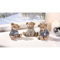 "Декоративные фигурки медвежат Тедди ""Вязаные свитерочки"", 3шт."