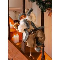 """Декоративная фигура """"Взбирающийся Санта"""", высота 46см"""