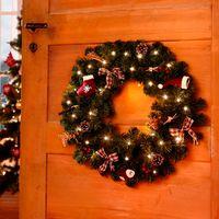 """Декоративный венок с освещением """"Рождество гномов"""""""