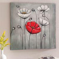 """Картина маслом """"Красный цветок"""""""