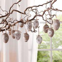 """Подвесные украшения """"Яйца в пастельных тонах"""", 12шт."""