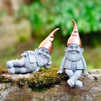 """Декоративные фигуры садовых гномов """"Медные колпаки"""", 2шт."""