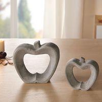 """Декоративные фигуры яблочек """"Grey"""" 2шт."""