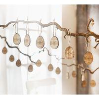 """Подвесные украшения пасхальные """" Яйца с цветочными узорами"""", 20шт"""