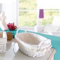 Корзинка овальная белая плетеная